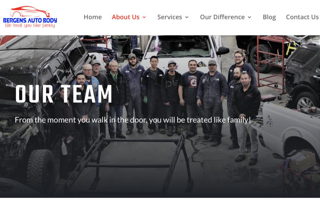Bergens auto body team photo