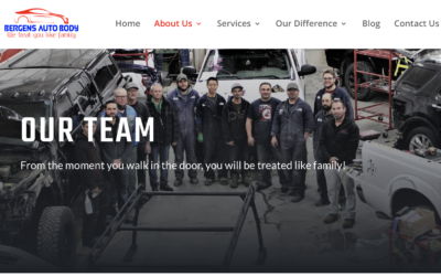 Welcome to the Bergen's Auto Body & Collision Centre New Website