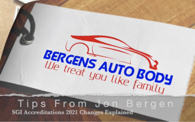 Jon's Auto Body Tip #8 – SGI  Accreditation Changes Explained